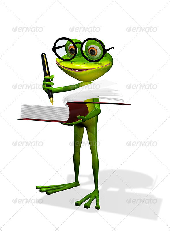 GraphicRiver Frog And Books 8409625