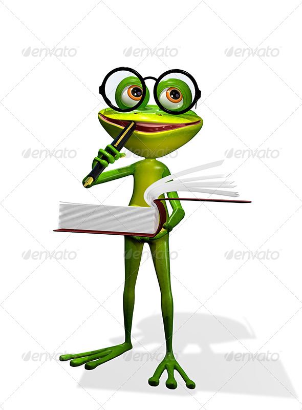 GraphicRiver Frog And Books 8409684