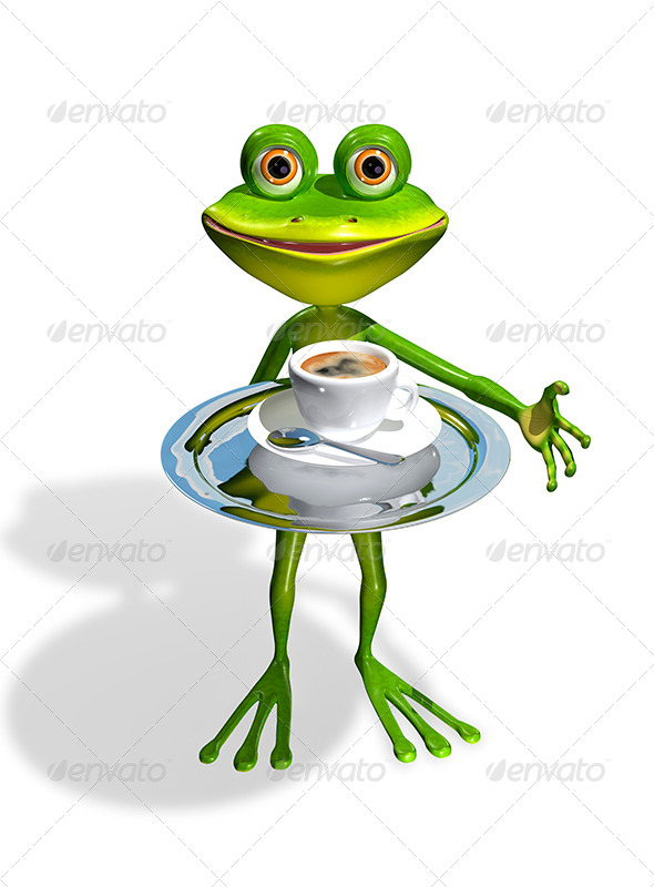 Frog with a Tray