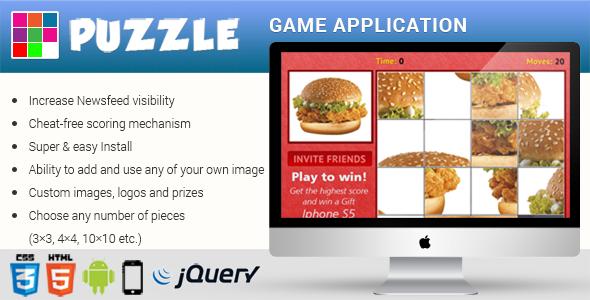 CodeCanyon Premium HTML5 Puzzle Game App 8409799