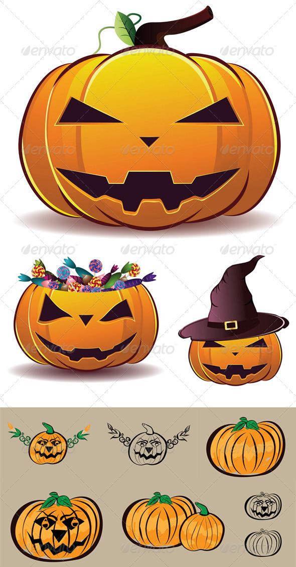 GraphicRiver Halloween Pumpkin Illustration 8409800
