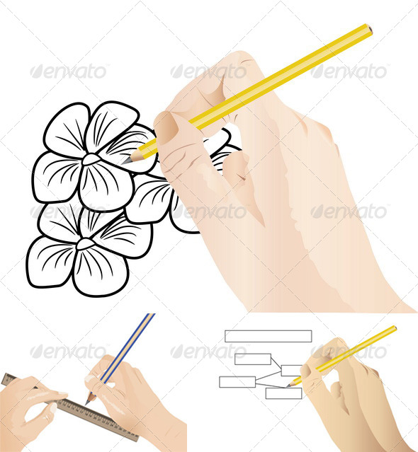 GraphicRiver Human Draw Using Pencil 8409803