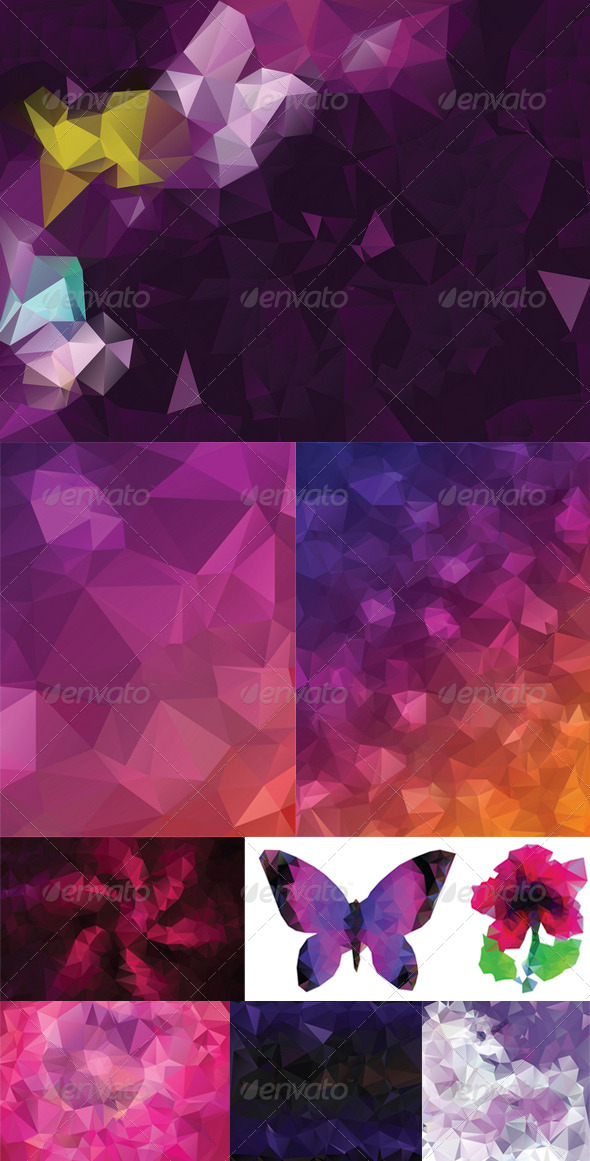 GraphicRiver Purple Geometric Background 8409806