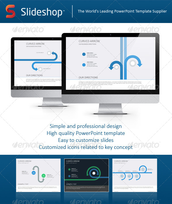 GraphicRiver Curved Arrows Flat 8234286
