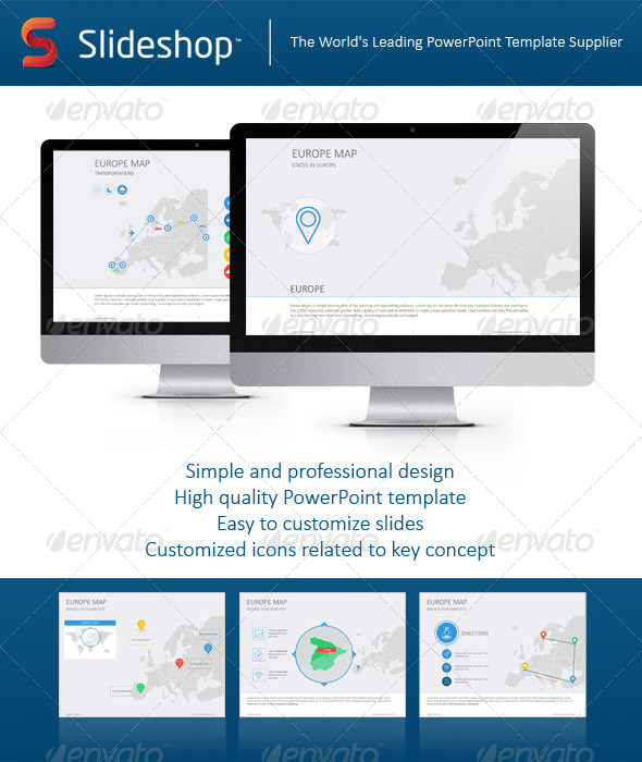 GraphicRiver Europe Map Flat 8234276