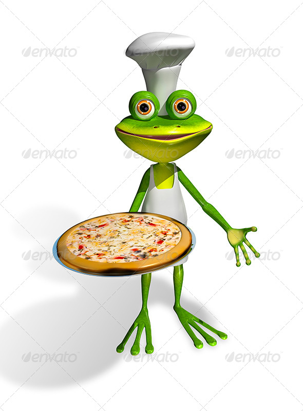 GraphicRiver Frog Chef With Pizza 8410036