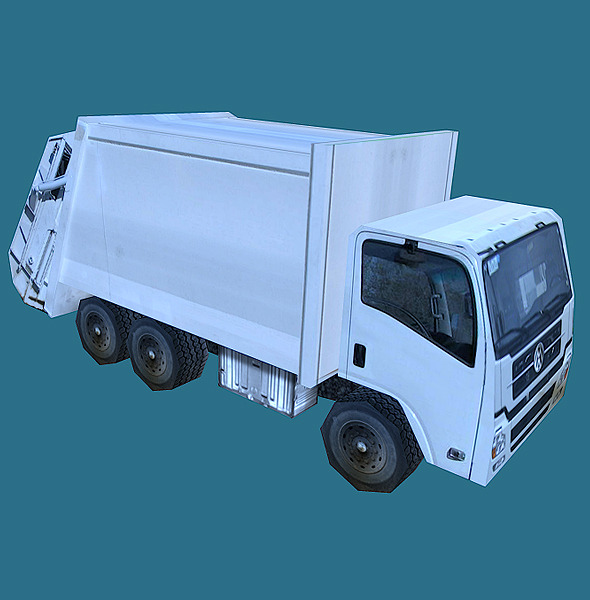 3DOcean Low Poly Garbage Truck Model 856136
