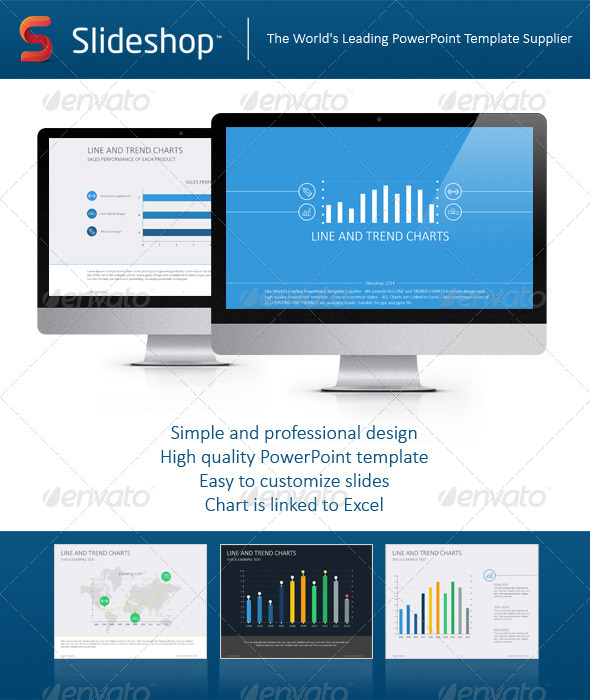 GraphicRiver Line and Trends Chart Flat 8233621