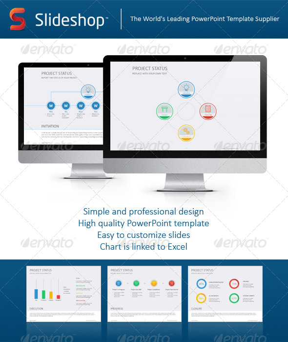 GraphicRiver Project Status Flat 8234081