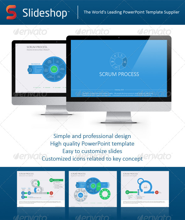 GraphicRiver Scrum Process Flat 8234141