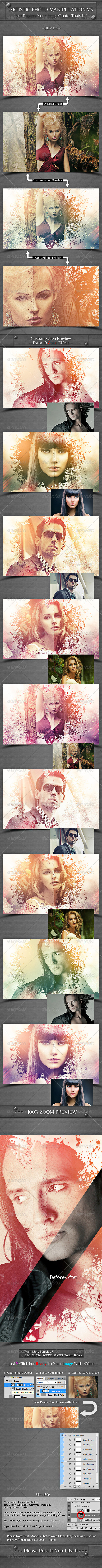 Artistic Photo Manipulation V5 - Photo Templates Graphics