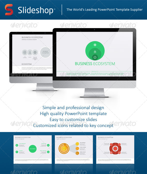 GraphicRiver Business Ecosystem Flat 8234099