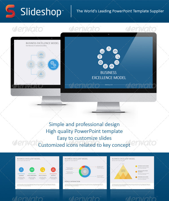 GraphicRiver Business Excellence Model Flat 8233768