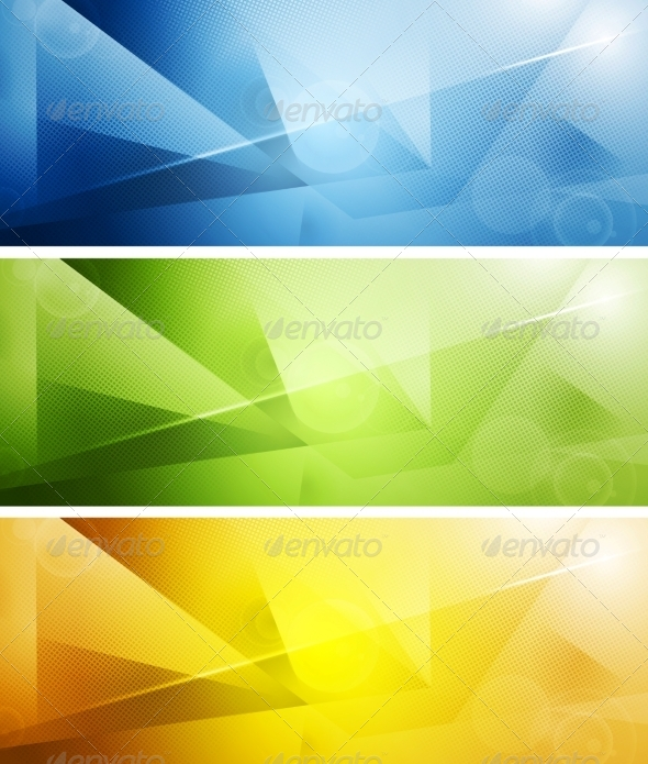 GraphicRiver Tech Shiny Banners 8410086