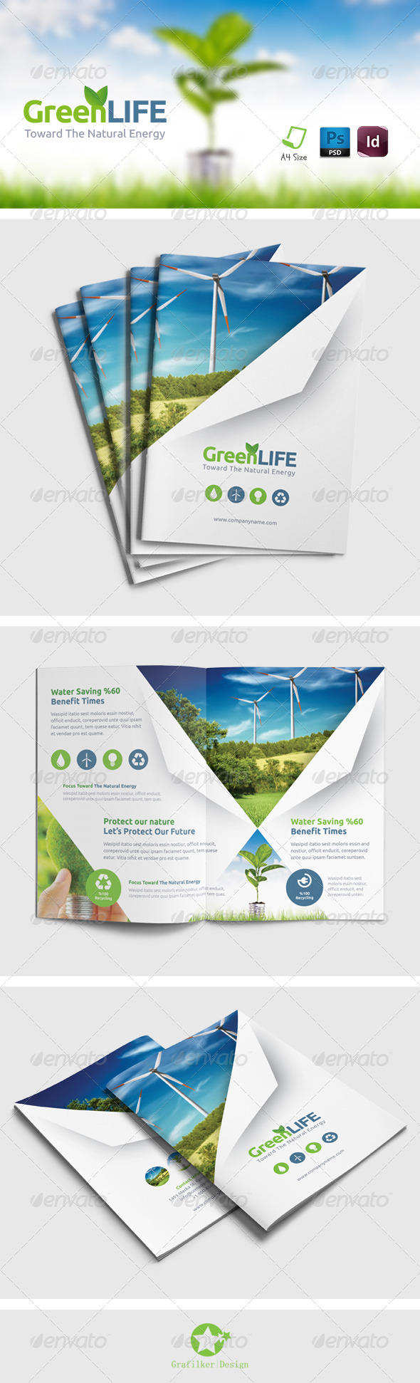 GraphicRiver Green Energy Brochure Templates 8410090