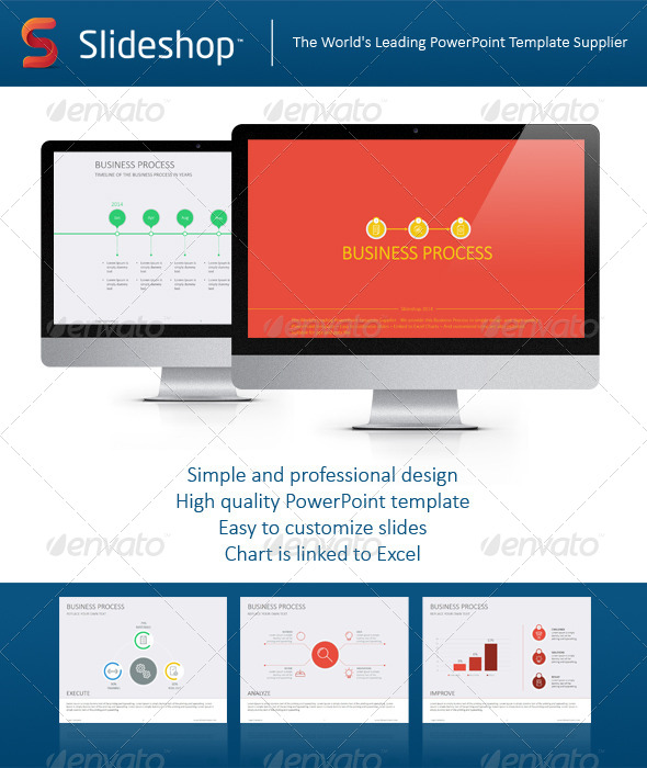 GraphicRiver Business Process Flat 8234261
