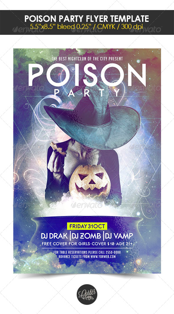 GraphicRiver Poison Party Flyer Template 8410272