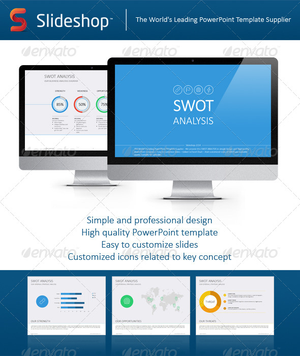 GraphicRiver SWOT Analysis Flat 8202966