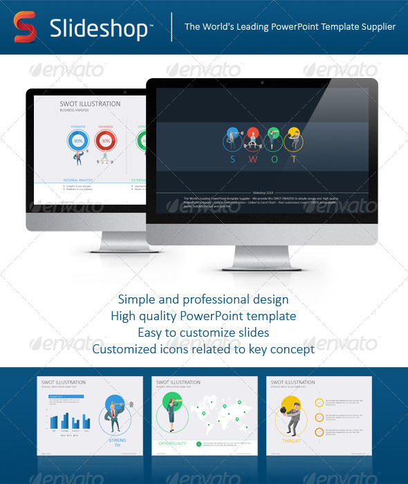 GraphicRiver SWOT Analysis Illustration Flat 8232497