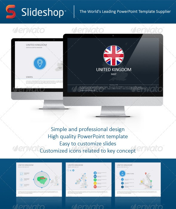 GraphicRiver United Kingdom Map 8233662