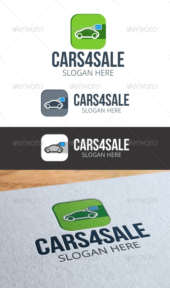 GraphicRiver Cars 4 Sale Logo 8410629