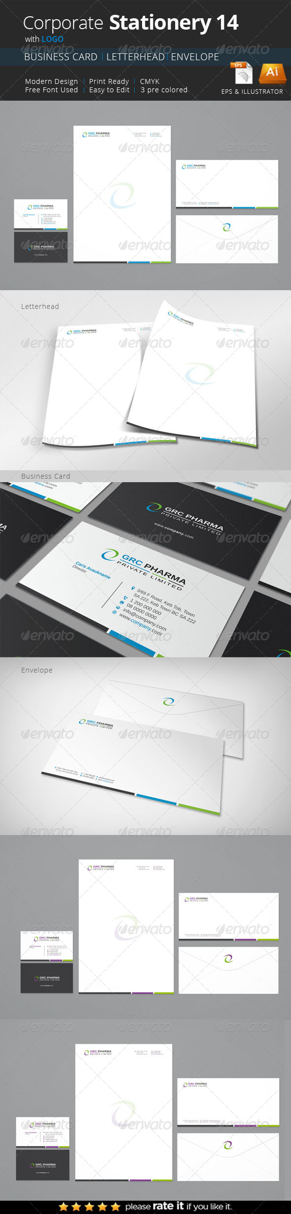 GraphicRiver Stationery 8410788