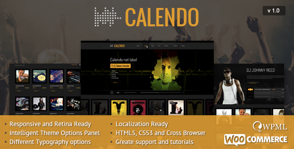 ThemeForest Calendo Responsive WordPress Theme 8350449