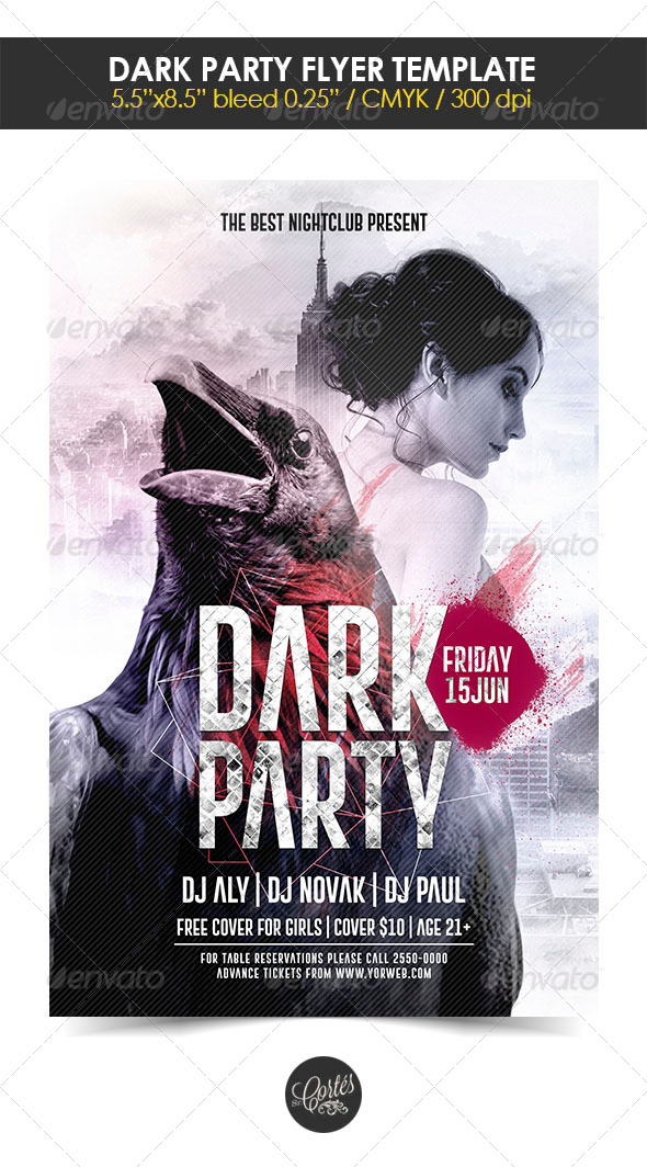 GraphicRiver Dark Party Flyer Template 8410851