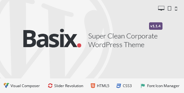 Basix - Corporate WordPress Theme - Business Corporate