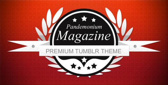 ThemeForest Pandemonium Magazine Tumblr 852454