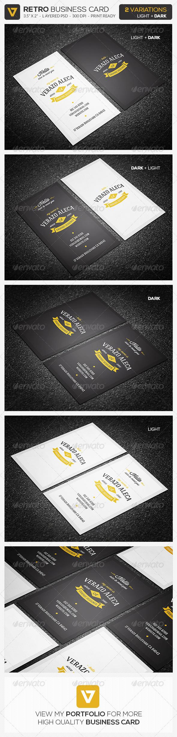 GraphicRiver Retro Vintage Business Card 01 8410901