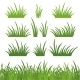 Green grass, seamless and set - GraphicRiver Item for Sale