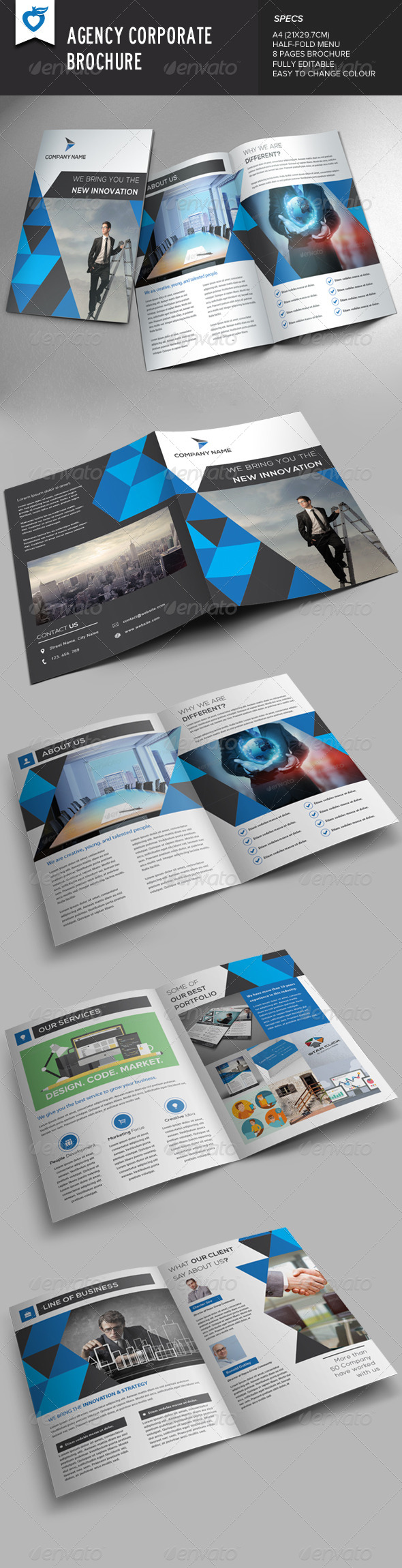 GraphicRiver Agency Corporate Brochure 8411482