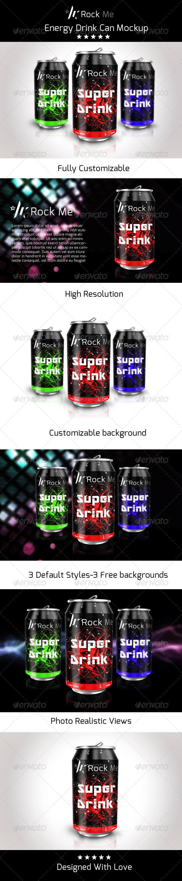 GraphicRiver Rock Me Can Mock up 8392269