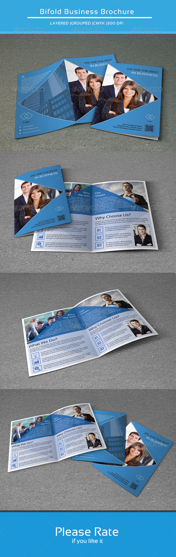 GraphicRiver Bifold Business Brochure-V101 8411684