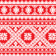 Ukrainian, Slavic Folk Art Knitted Red and White - GraphicRiver Item for Sale