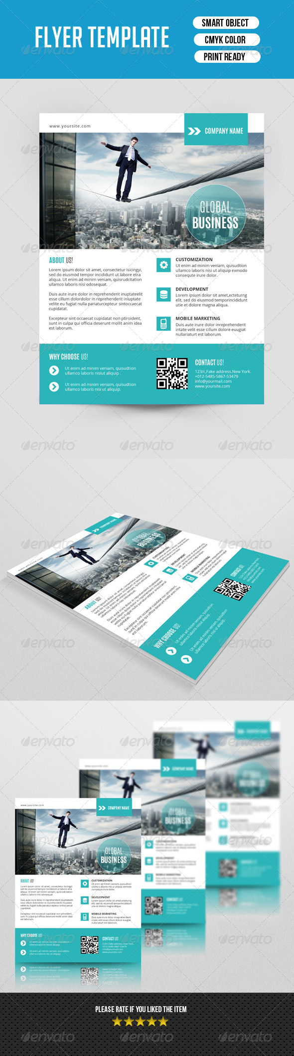 GraphicRiver Corporate Flyer Template-V91 8411765