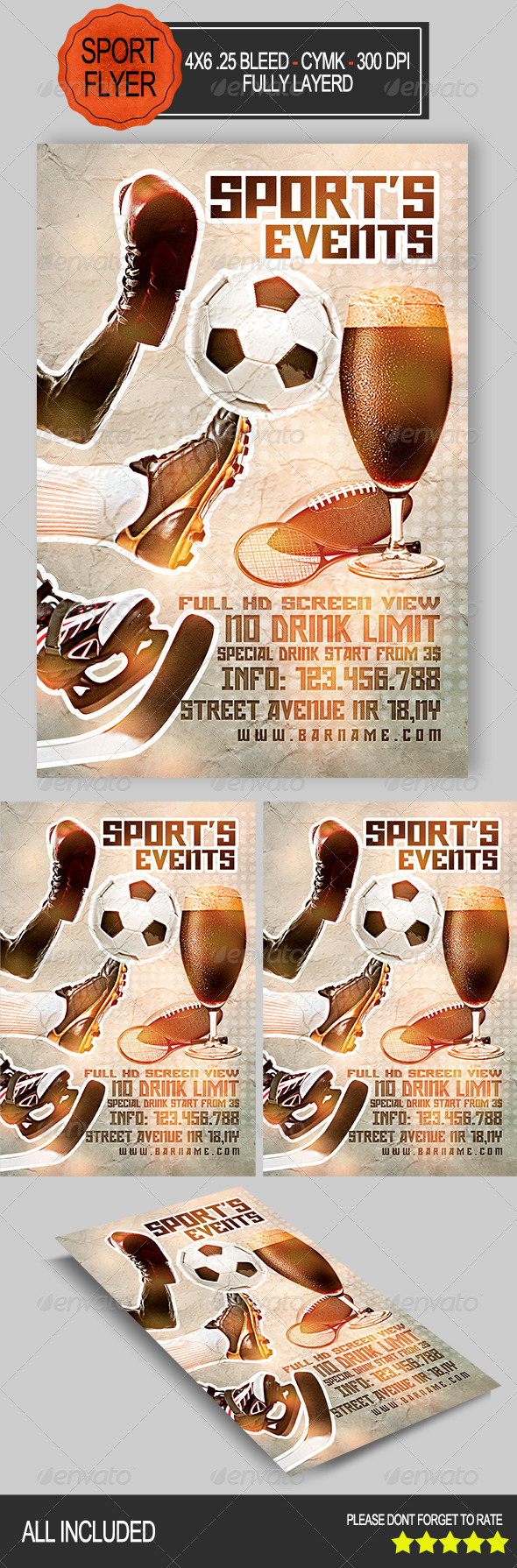 GraphicRiver Sport Events Flyer 8411783