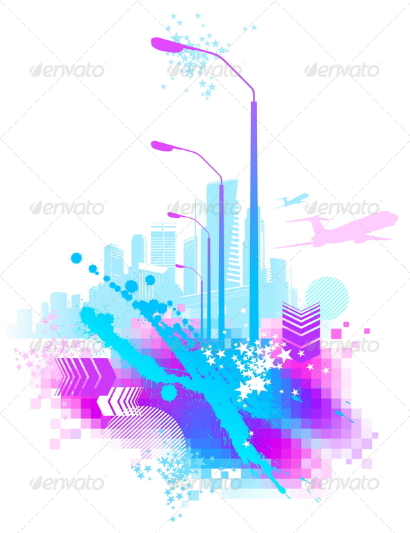 GraphicRiver Abstract Urban Scene 8411874