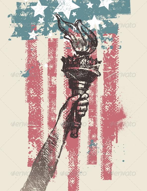 GraphicRiver USA Patriotic Vector Illustration 8411904