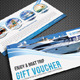 Boat Sailing Gift Voucher V22 - GraphicRiver Item for Sale