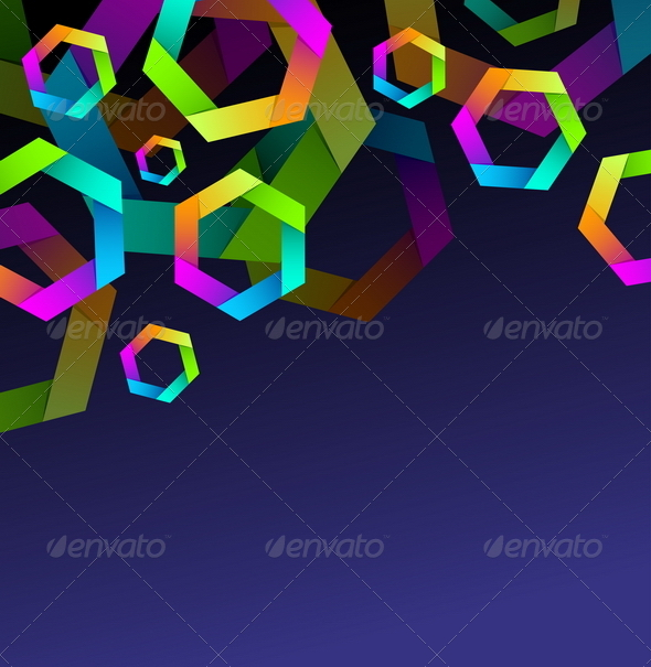 GraphicRiver Abstract Background with Colorful Hexagones 8411987