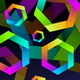 Abstract Background with Colorful Hexagones - GraphicRiver Item for Sale