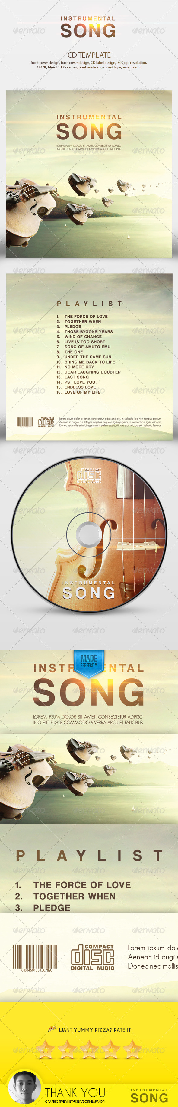 GraphicRiver Instrumental Song CD Template 8412008