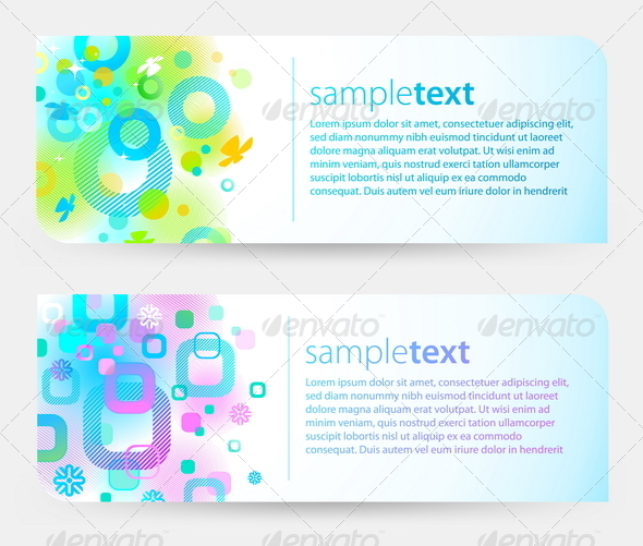 GraphicRiver Abstract Vector Colorful Banners 8412106