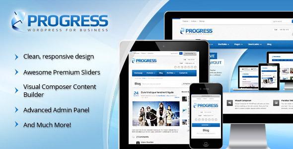 Progress Responsive Multi-Purpose Theme - Corporate WordPress