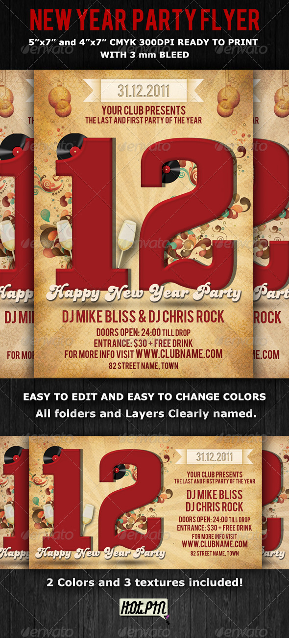GraphicRiver New Years Eve Party Flyer Template 856798