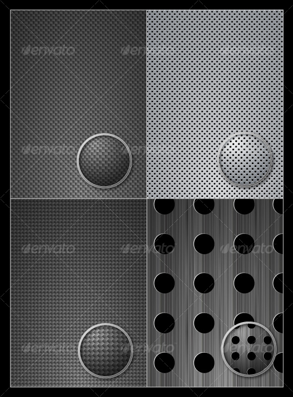 GraphicRiver Vector Carbon Metal Pattern 35780