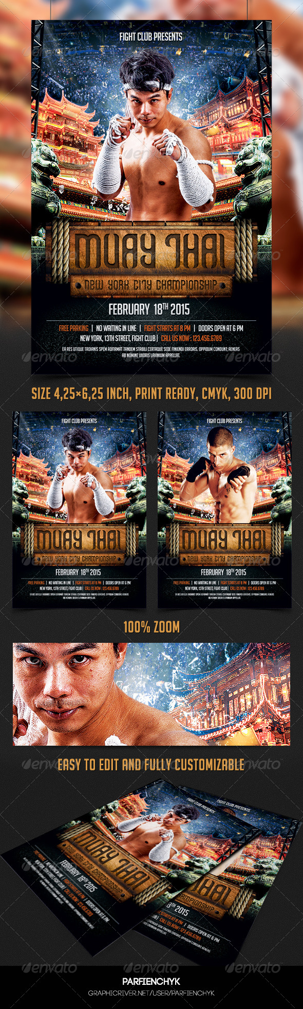 GraphicRiver Muay Thai Flyer Template 8412941