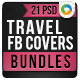 Travel Facebook Cover Bundle - 4 Designs - GraphicRiver Item for Sale